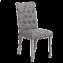 Chaise gris noir bois haut dossier.png
