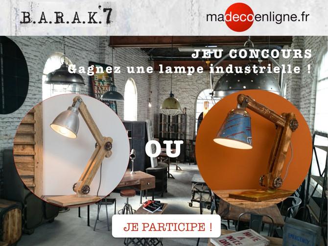 Jeu-concours : gagnez une lampe industrielle !