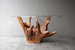 Table repas racine bois verre.jpg