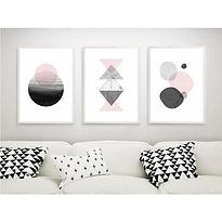 affiche-de-tableau-de-geometrie-de-style