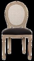 Chaise médailllon bois velours noir.png
