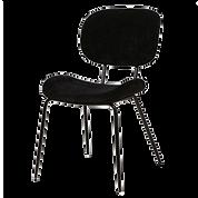 Chaise rétro noire face.png