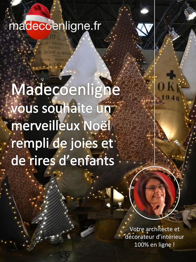Madecoenligne vous souhaite un magnifique Noël scintillant !
