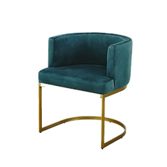 Chaise bleu velours.png