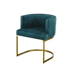 Chaise bleu velours.png