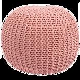 Pouf rose tricoté.png