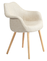 Chaise scandinave tissu blanc.png