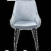 Chaise velours bleu face.png