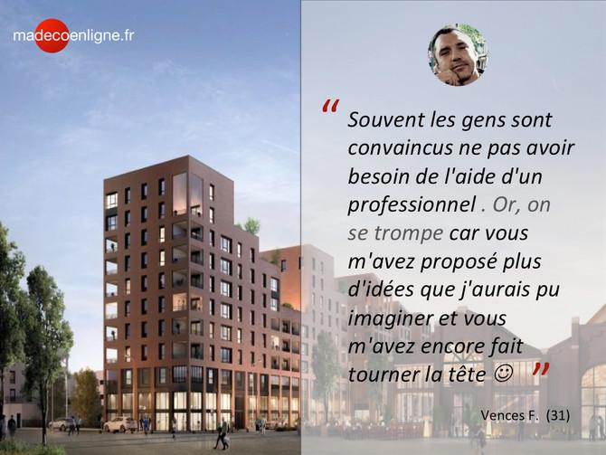 VEFA : un T3 acheté sur plan en cours d'optimisation à Toulouse