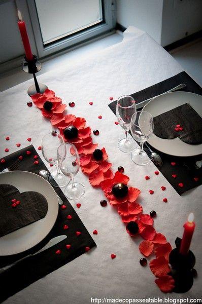 5 idées pour décorer votre table de St Valentin