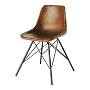 Chaise indus cuir marron.png