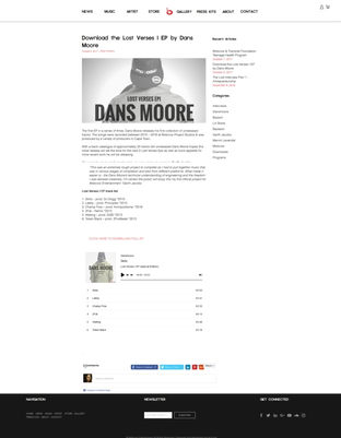 Download the Lost Verses I EP by Dans Moore