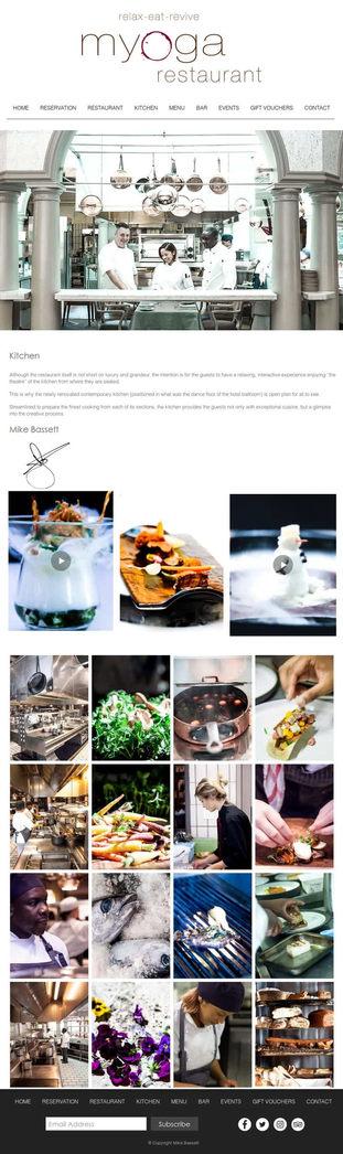 Myoga Restaurant Kitchen