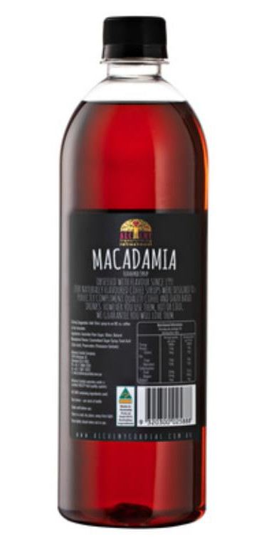 Alchemy Macadamia Syrup 750ml