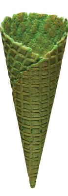 Natural Top Waffle Cone B  - Green