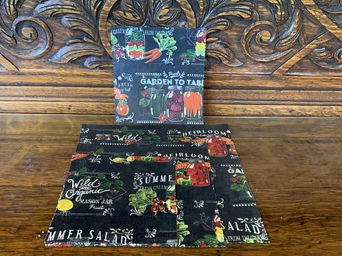 Reusable Beeswax Food Wrap - Set