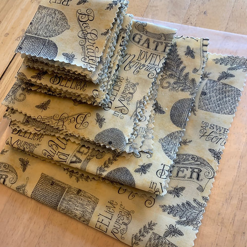'Bee Grateful' Beeswax Wrap