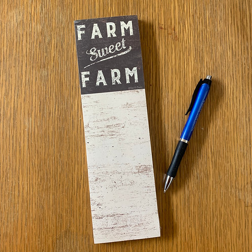 Farm Sweet Farm Notepad