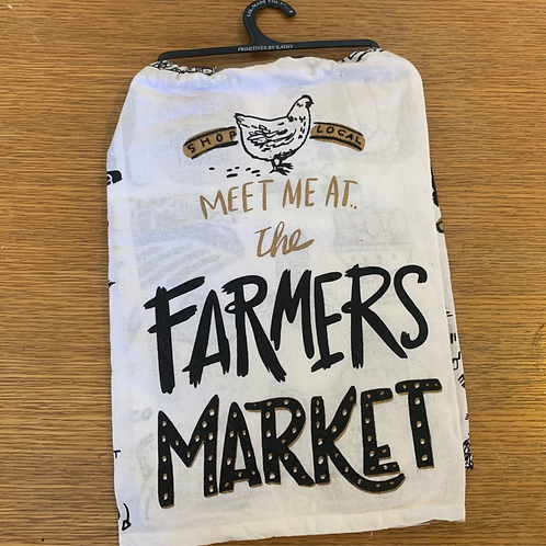 Farmers Market tea towel