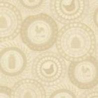 'Round We Go' Beeswax Wrap (yellow cream)