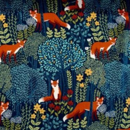 'Forest Fox' Beeswax Wrap (dark blue)