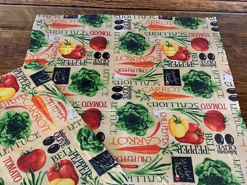 Reusable Beeswax Food Wrap - Singles