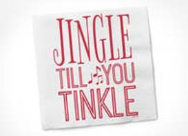 Jingle Til You Tinkle Cocktail Napkin