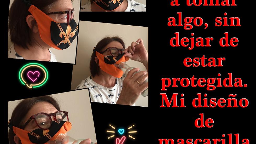 EXCLUSIVIDAD Mascarilla para poder beber