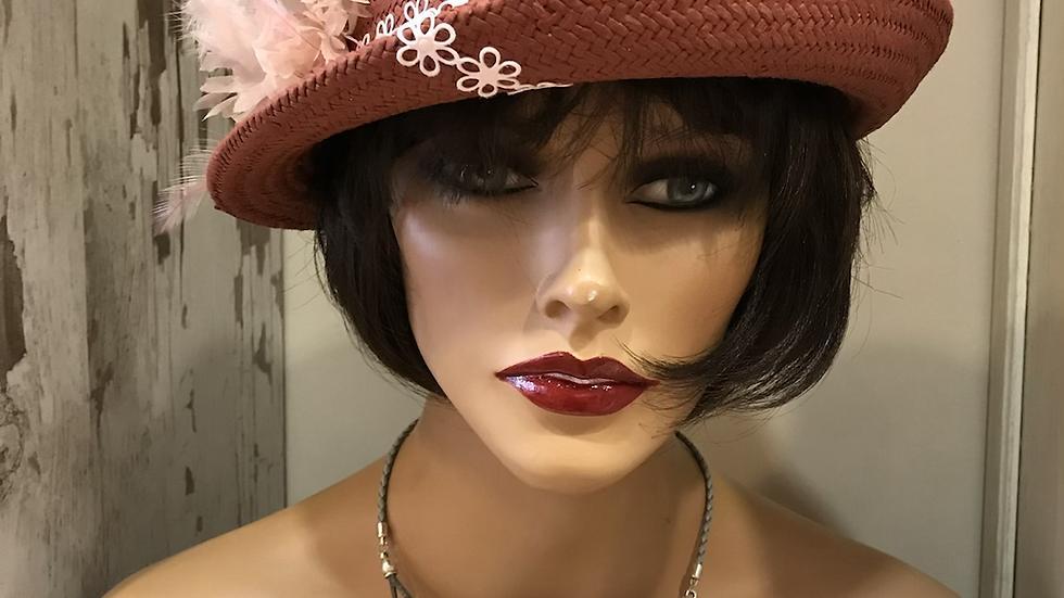 Sombrero Cloché paja fina marrón