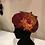 Thumbnail: Boina con flor de seda salvaje y plumas.