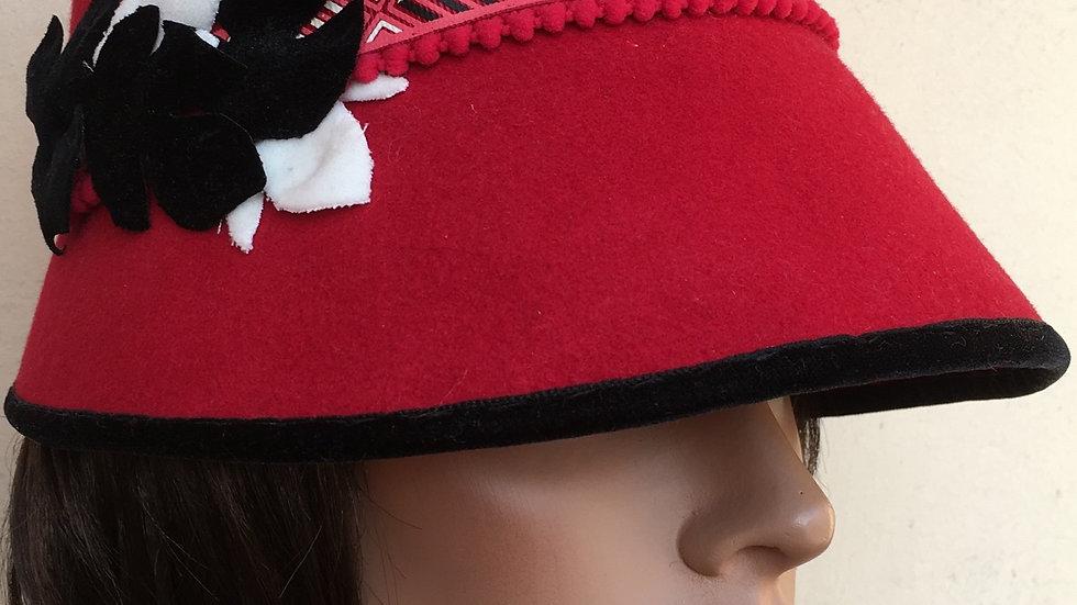 Sombrero Cloché Rojo