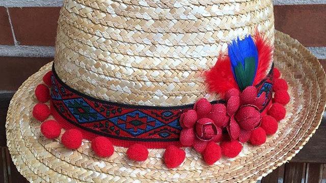 Sombrero Fedora de palma