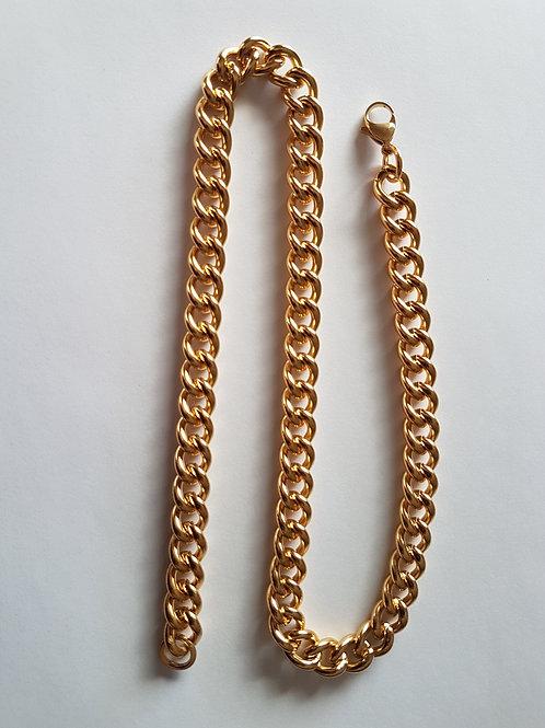 Gold Tone Curb Chain