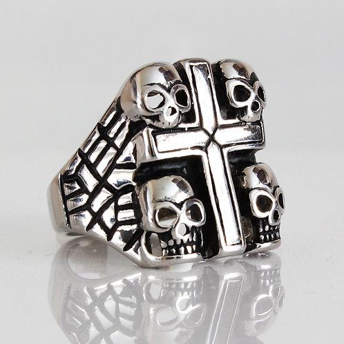 4 Skull and Cross Ring