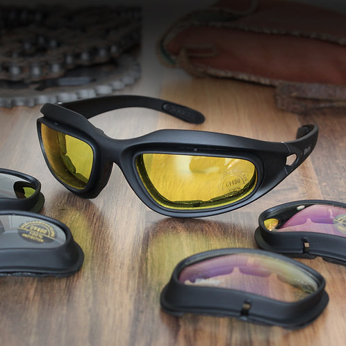 Daisy Military Style Motorcycle Glasses