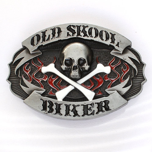 Old School Biker Belt Buckle