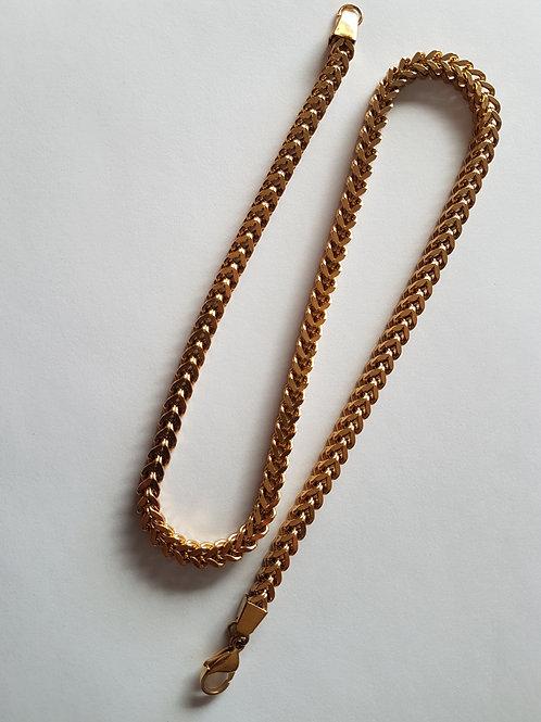 Gold tone chain