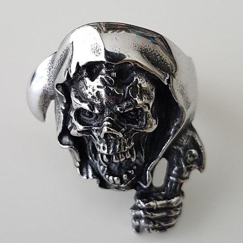 Grim Reaper Biker Ring