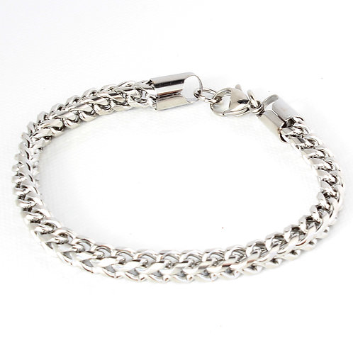 Stainless Steel Box Chain Bracelet
