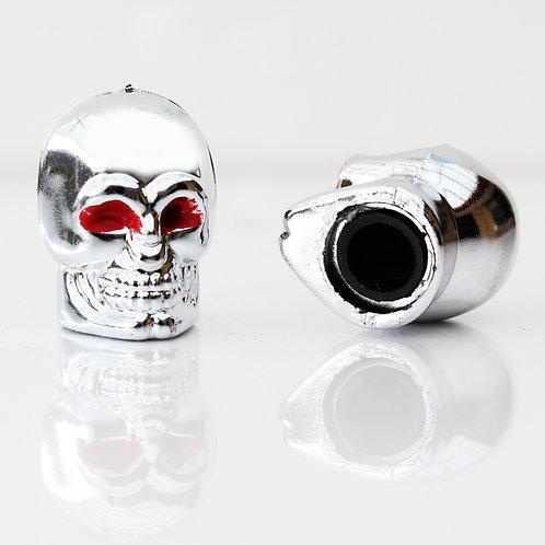 Large Skull Tyre Valve Caps.