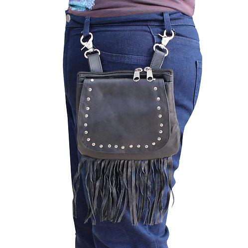Ladies Leather Tassled Waist Bag