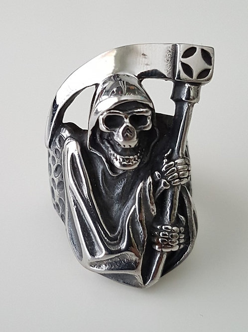 Large Grim Reaper Biker Ring