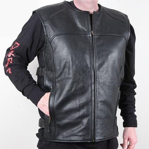 SWAT Style Leather Biker Vest