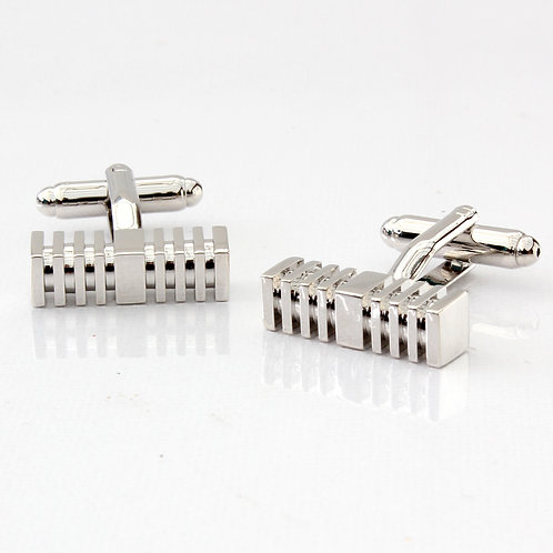 Rectangular Bar Column Pillar Cufflinks