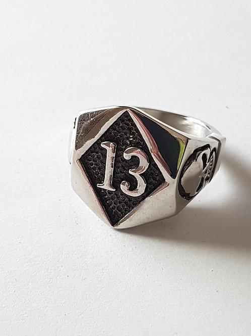 Lucky 13 Biker Ring