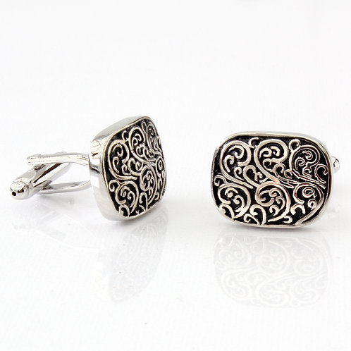 Vintage Style Patterned Cufflinks