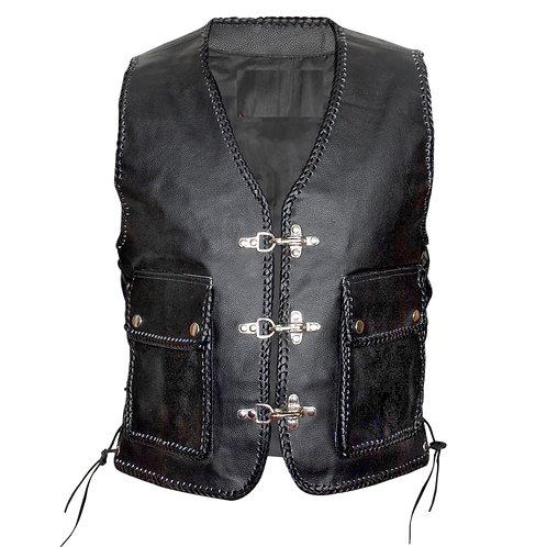 Leather Biker Vest