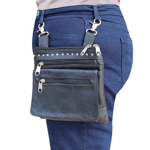 Leather Biker Waist Bag