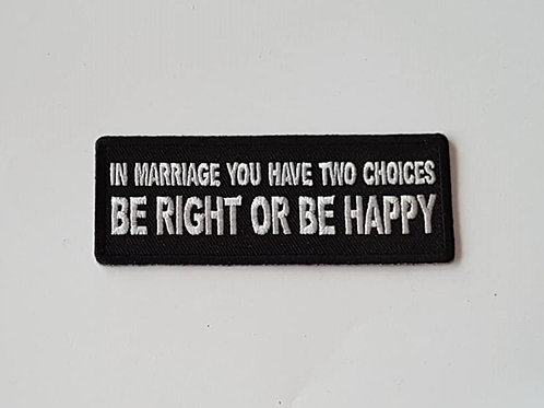 In Marriage...