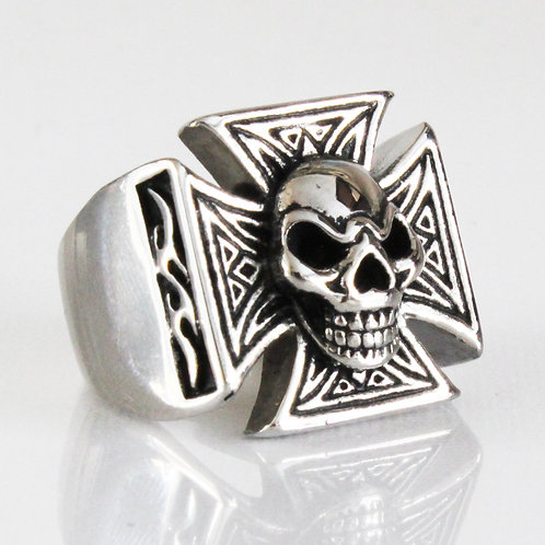 Iron Cross and Skull Ring